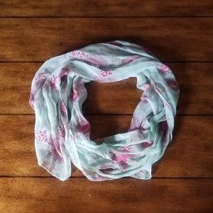 Accessories - Sheer rose floral scarf